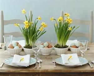 Tischdeko Für Ostern : tischdeko f r ostern mit bunten farben und frischen blumen ~ Watch28wear.com Haus und Dekorationen