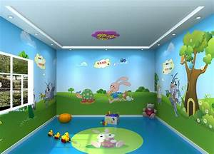 Room wallpaper design, kindergarten lighting design