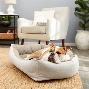 Frisco, Rectangular, Bolster, Dog, Bed, W, Removable, Cover, Beige, Medium