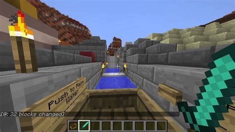 Minecraft Boat Canal a functional canal lock in minecraft
