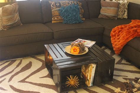 Arrange four wooden crates together on there sides, with the openings facing out (creating shelving). 20 DIY Wooden Crate Coffee Tables   Guide Patterns