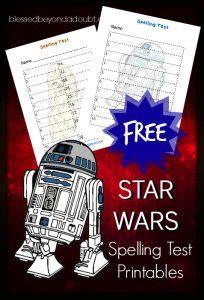 star wars spelling test printables blessed