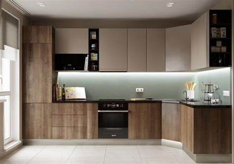 modern kitchen trends  bringing  tone wood cabinets