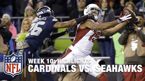 cardinals  seahawks week  highlights nfl youtube