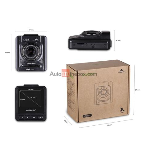 vision camcorder 109 00 ausdom a261 hd car dash dvr with gps and 2