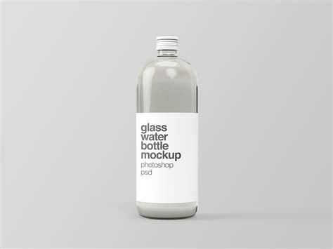 Premium cough syrup liquid medicine mockup. Free Glass Water Bottle Mockup | Free Mockup