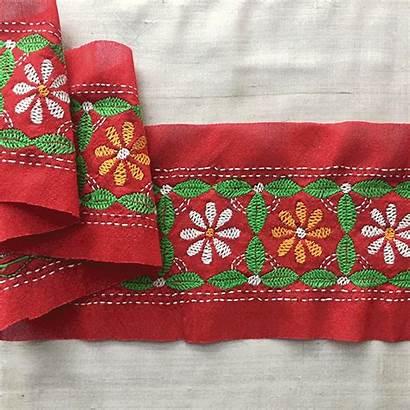 Embroidery Decorate Phulkari Borders Saree Techniques Using