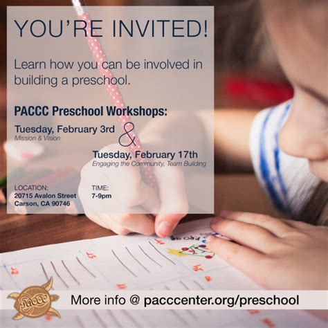 preschools in carson ca preschool workshops begin february 3rd paccc 305