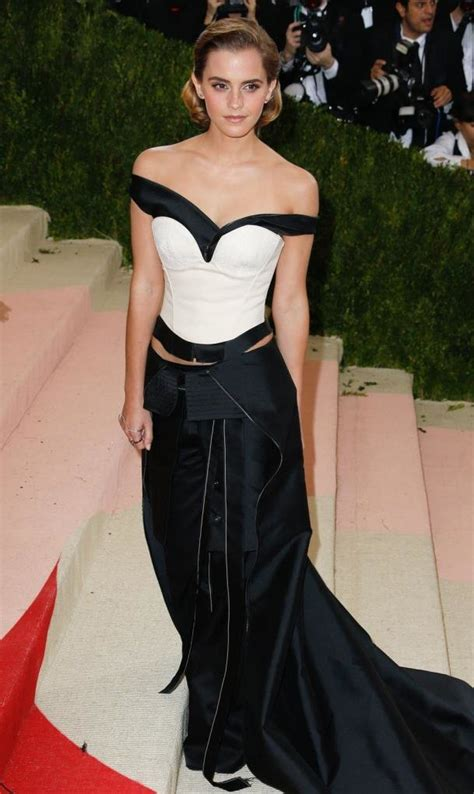 Emma Watson The Met Gala Dress Made From Fabric