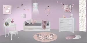 Deco Chambre Fille Bebe : decoration chambre bebe fille papillon visuel 1 ~ Teatrodelosmanantiales.com Idées de Décoration