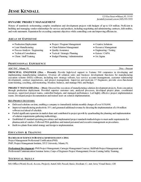 Technical Project Manager Resume by Technical Project Manager Resume Exles Search