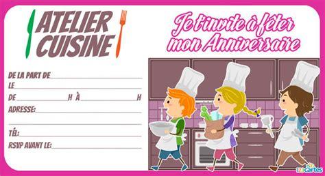 2 filles en cuisine invitation anniversaire atelier cuisine 123 cartes