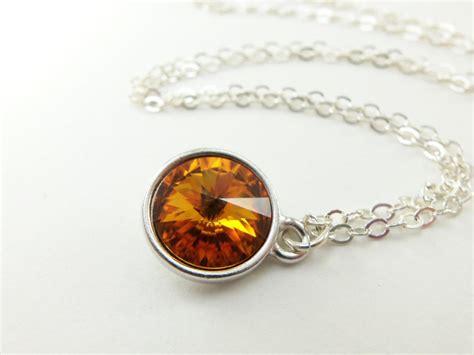 november birthstone jewelry citrine birthstone necklace sterling silver necklace