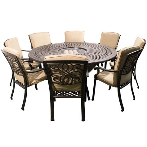 circle dining table set kensington firepit grill 8 chair dining set with 180cm