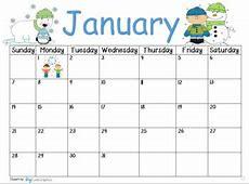 January 2018 Calendar by crazy4kindergarten Teachers Pay