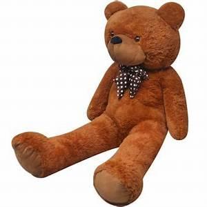 Ours En Peluche Xxl : vidaxl ours en peluche doux xxl 175 cm marron achat prix fnac ~ Teatrodelosmanantiales.com Idées de Décoration
