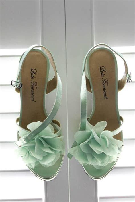 mint green bridal shoes kelly kyle