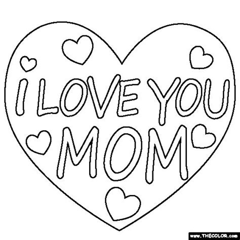 love  mom coloring page mom coloring pinterest