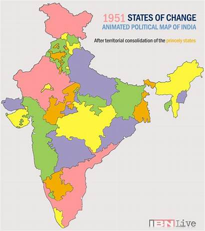 Map States Animated India Political Changing Indian