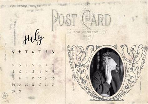 vintage postcard calendar