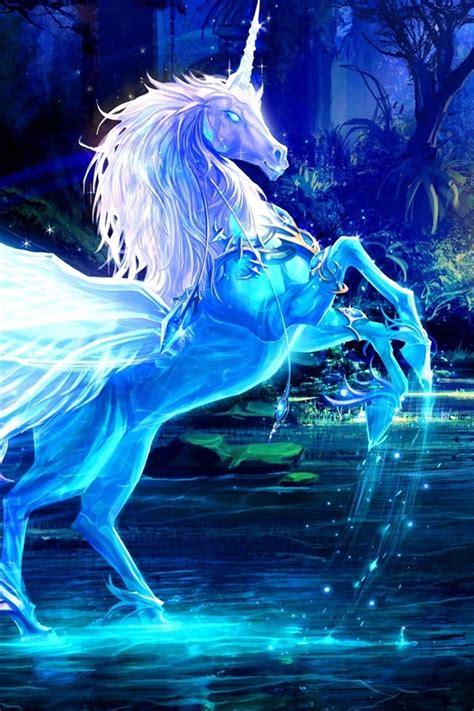 fonds decran images dart licorne cheval leau les