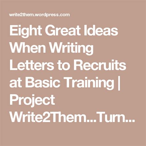 great ideas  writing letters  recruits