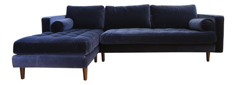blue mid century modern sofa mid century modern navy blue velvet sectional sofa chairish