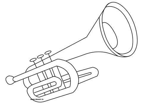 coloring trumpet