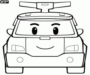 pin  mp chen  coloring pages robocar poli coloring