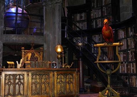 Inside Dumbledore's office, it's business as usual. audio
