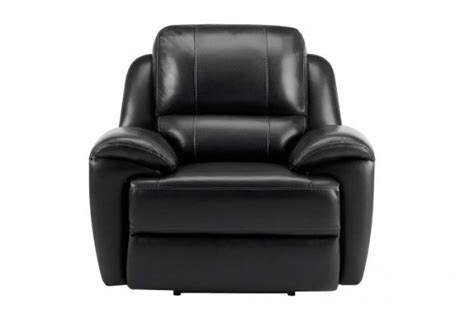 Finley Electric Reclining Armchair, Black Leather