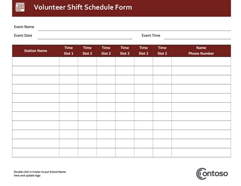 Schedule Template by Schedules Office
