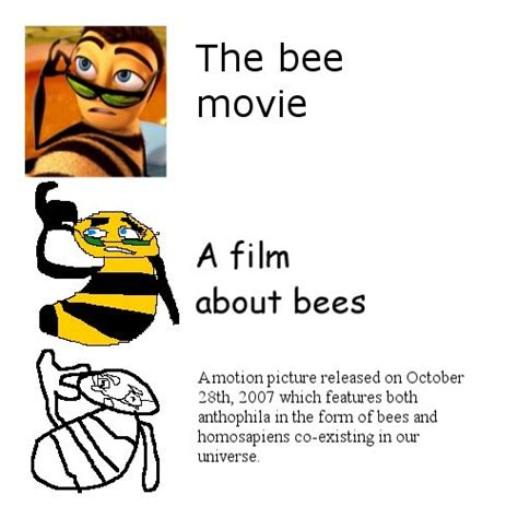 Verbose Memes - the bee movie increasingly verbose memes simplification memes know your meme