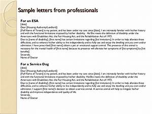 Emotional support animal sample letter for flying for Emotional support animal letter for flying