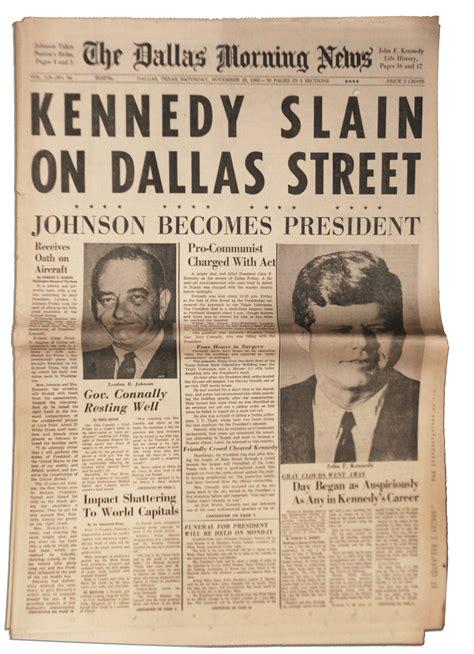 lot detail jfk assassination dallas newspaper  november  edition   dallas