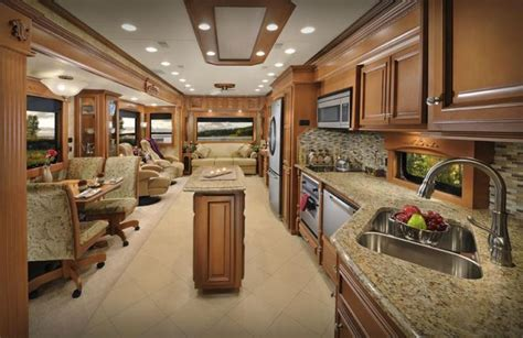 5th Wheel Living Room Up Front by Continental Coach Custom Luxury 5th Wheels And Travel