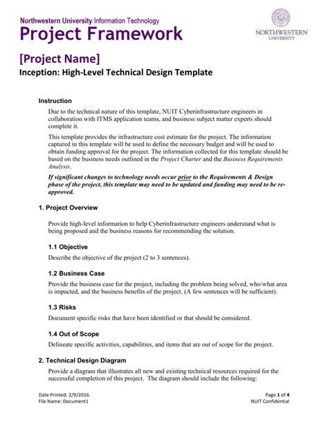 high level technical design template