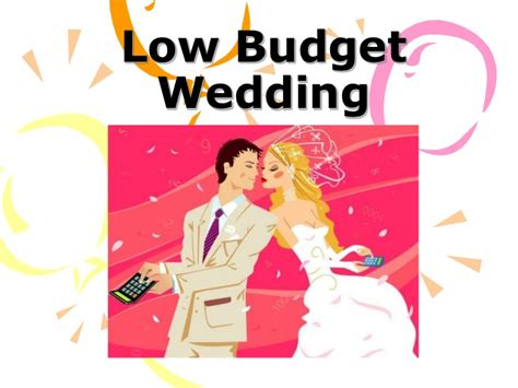 low budget wedding ideas for you