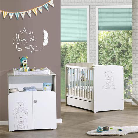 chambre bébé allemagne chambre bébé duo teddy lit 60x120cm commode de baby