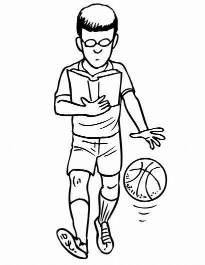 Basketball Dribbling Coloring Pages Sports Player Drills