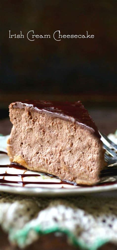 irish cream cheesecake recipe  hint  chocolate