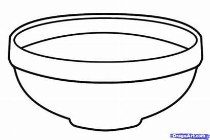 Bowl Fruit Clipart Drawing Coloring Cereal Empty
