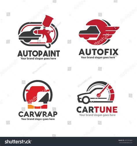 Car Service Logo Set Including Body Stock Vector 407291869