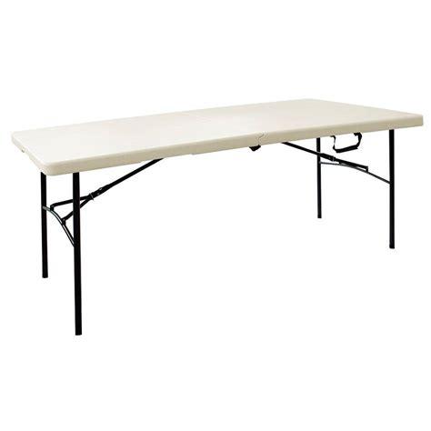 HDX 6 ft. Folding Resin Table in Earth Tan.-TA3072FX03