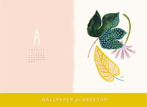 Desktop Calendar And Wallpaper For April