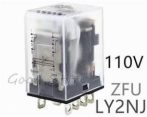 1 Pcs Zfu Frosted Relay Ly2nj 8 Pin 10a With Led