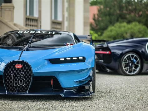 Bugatti Chiron Gt Vision by Bugatti Chiron And Vision Gt Photograph By George Williams