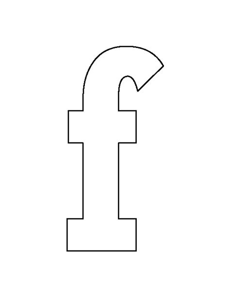 lowercase f clipart lowercase letter f pattern use the printable outline for