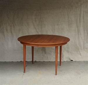 Table Ronde Scandinave Extensible : table ronde extensible en teck massif 1960 design market ~ Melissatoandfro.com Idées de Décoration