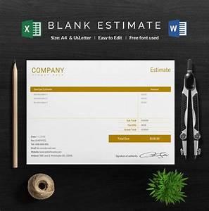 26  Blank Estimate Templates